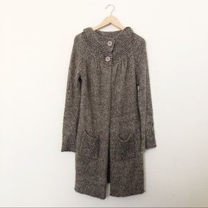 Bcbgmaxazria brown long knit cardigan